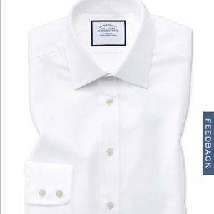 NWOT Charles Tyrwhitt Slim Fit White Dress Shirt